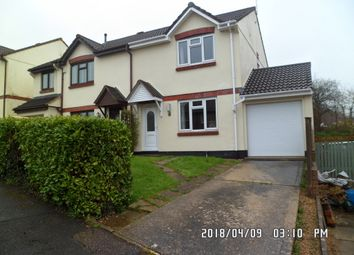 Thumbnail 3 bed semi-detached house to rent in Tweed Close, Honiton