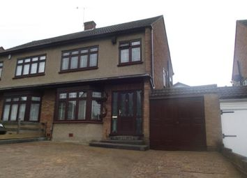 Thumbnail 3 bedroom semi-detached house for sale in Sackville Crescent, Harold Wood, Romford