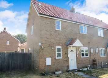 Thumbnail 3 bedroom semi-detached house for sale in Brewers Close, Lakenheath, Brandon