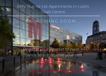 Thumbnail 1 bed flat for sale in Buy-To-Let Luton Town Centre Apartments, Luton