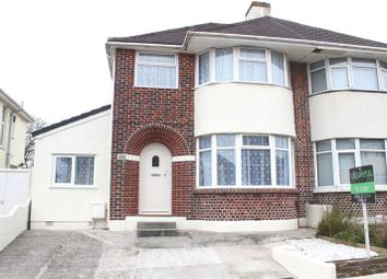 Thumbnail 4 bed semi-detached house for sale in 127 Churchway, Weston Mill, Plymouth