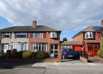 Thumbnail 3 bedroom semi-detached house for sale in Rothbury Avenue, Gosforth, Newcastle Upon Tyne