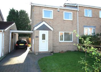 Thumbnail 3 bed semi-detached house for sale in Gateford Glade, Worksop