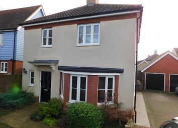 Thumbnail 3 bed detached house for sale in Eider Close, Stowmarket