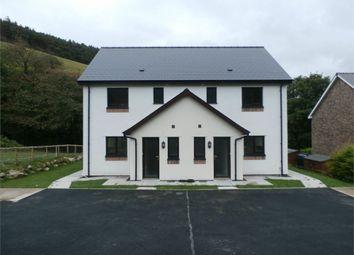 Thumbnail 3 bed semi-detached house for sale in Plot Adjoining Aber Ddwynant, Llanafan, Aberystwyth