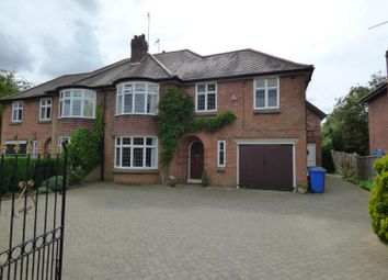 Thumbnail 5 bed semi-detached house to rent in Molescroft Road, Beverley