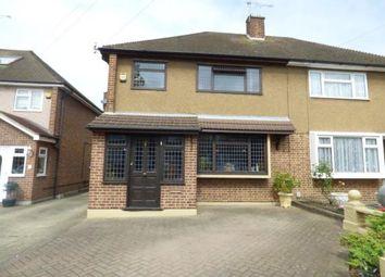 Thumbnail 3 bedroom semi-detached house for sale in Farnes Drive, Gidea Park, Romford