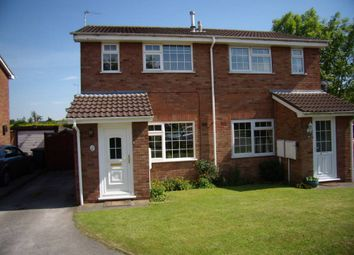 Thumbnail 2 bed semi-detached house to rent in Highgrove Close, Stretton, Burton-On-Trent