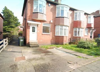 Thumbnail 3 bed flat to rent in Ovington Grove, Fenham, Newcastle Upon Tyne