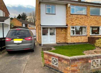 Thumbnail 3 bed semi-detached house to rent in Blenheim Road, Birstall, Leicester