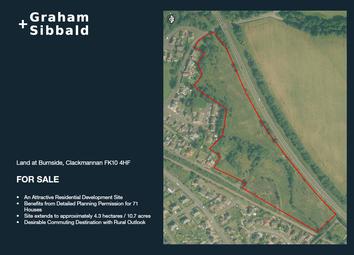 Thumbnail Land for sale in Burnside Clackmannan, Clackmannan