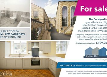 Thumbnail 1 bed flat for sale in The Courtyard, Hollins Mill, Hollins Road, Walsden, West Yorkshire