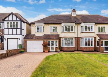 Thumbnail 4 bed semi-detached house for sale in Fairway, Carshalton