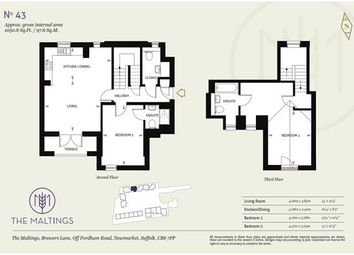 Thumbnail 2 bed flat for sale in Piper House, The Maltings, Newmarket
