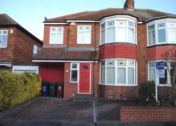 Thumbnail 4 bed semi-detached house to rent in Westbourne Avenue, Gosforth, Newcastle Upon Tyne