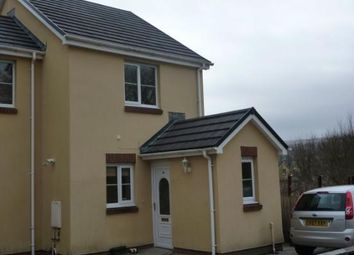 Thumbnail 2 bedroom semi-detached house to rent in Fforest Fach, Tycroes, Ammanford