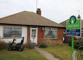 Thumbnail 2 bed bungalow to rent in Princess Road, Whitstable