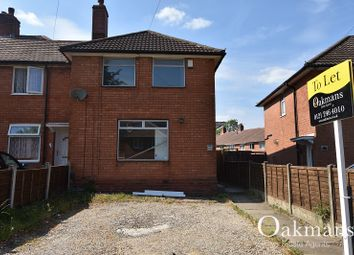 Thumbnail 3 bedroom semi-detached house to rent in Milcote Road, Birmingham, West Midlands.