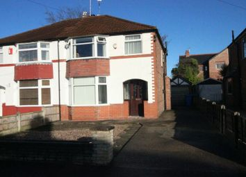 Thumbnail 3 bed semi-detached bungalow to rent in Grasmere Road, Sale