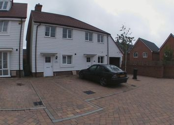 Thumbnail 2 bed semi-detached house to rent in Frederick Benson Mews, Repton Park, Ashford, Kent