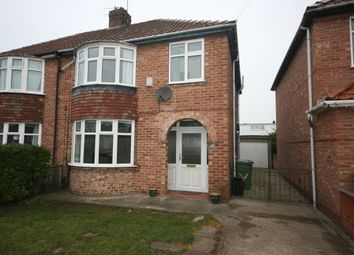 Thumbnail 3 bed semi-detached house to rent in Florence Grove, Rawcliffe, York