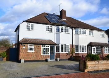 Thumbnail 4 bed semi-detached house for sale in Greenwood Road, Hinchley Wood, Thames Ditton
