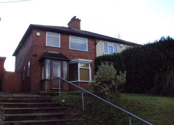 Thumbnail 1 bed semi-detached house to rent in Manor Road, Birmingham