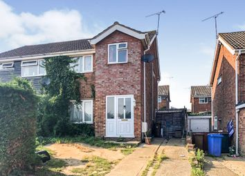 Thumbnail 3 bedroom semi-detached house for sale in Burghley Close, Ipswich
