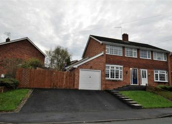 Thumbnail 3 bed semi-detached house for sale in Dunval Road, Bridgnorth, Shropshire