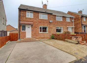 Thumbnail 3 bed semi-detached house for sale in Abbots Way, Morpeth