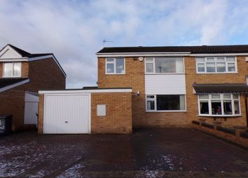 Thumbnail 3 bed semi-detached house to rent in Emerson Close, Leicester