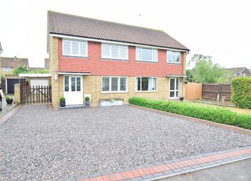Thumbnail 3 bed semi-detached house for sale in Westmoreland Drive, Lower Halstow, Sittingbourne, Kent