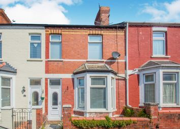 Thumbnail 3 bed terraced house for sale in Evelyn Street, Barry