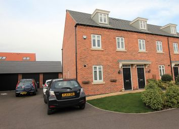 Thumbnail 3 bed town house for sale in Loddington Close, Syston, Leicester