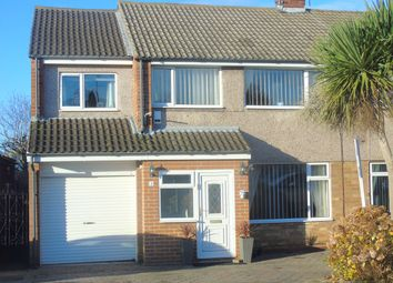 Thumbnail 4 bed semi-detached house for sale in Mendip Drive, Redcar