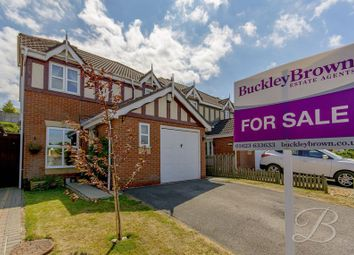 Thumbnail 3 bed detached house for sale in Redcar Close, Mansfield