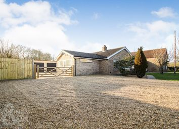 Thumbnail 5 bed detached bungalow for sale in Alburgh Road, Hempnall Green, Norwich