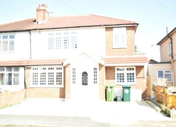 Thumbnail 4 bed semi-detached house for sale in Willowbrook Road, Staines-Upon-Thames, Surrey