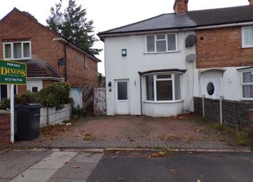 Thumbnail 3 bedroom end terrace house for sale in Millhouse Road, Birmingham, West Midlands