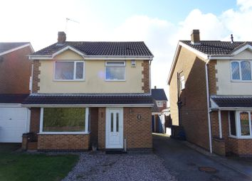 Thumbnail 3 bed detached house for sale in Sherwood Close, Ellistown, Leicestershire