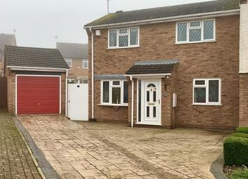 Thumbnail 3 bed semi-detached house for sale in Chelsea Close, Glen Parva, Leicester, Leicestershire