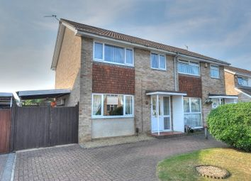 Thumbnail 3 bed semi-detached house for sale in Cottinghams Drive, Hellesdon, Norwich