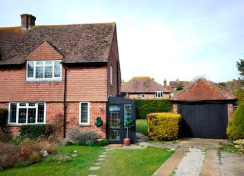 Thumbnail 3 bed semi-detached house for sale in Downs View Close, East Dean, Eastbourne