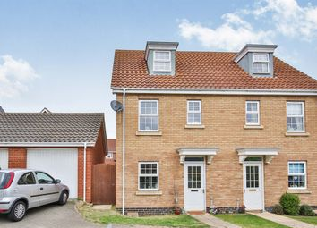 Thumbnail 3 bedroom town house for sale in Bishy Barnebee Way, Norwich