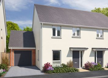"""Thumbnail 3 bed semi-detached house for sale in """"The Morden"""" at Vicarage Hill, Kingsteignton, Newton Abbot"""
