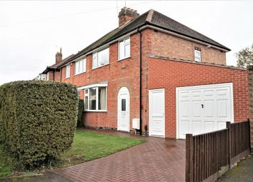 Thumbnail 3 bed semi-detached house for sale in Branting Hill, Groby, Leicester