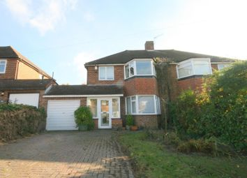 Thumbnail 3 bed semi-detached house to rent in The Greenway, Epsom