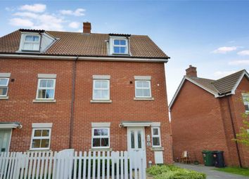 Thumbnail 3 bedroom semi-detached house for sale in Pelargonium Drive, Wymondham, Norwich