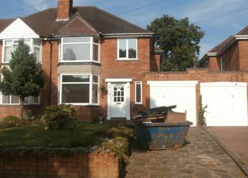 Thumbnail 3 bedroom semi-detached house to rent in Yateley Avenue, Great Barr, Birmingham