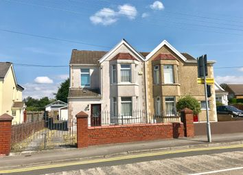 Thumbnail 3 bed semi-detached house for sale in Castle Street, Loughor, Swansea